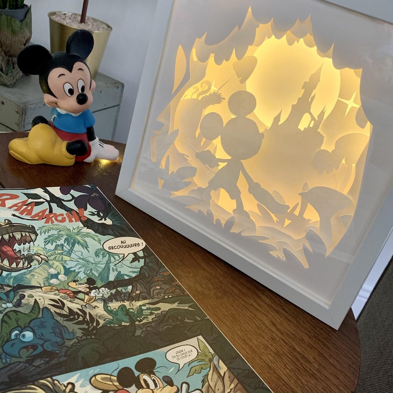 Cadre lumineux Mickey Disneyland Paris