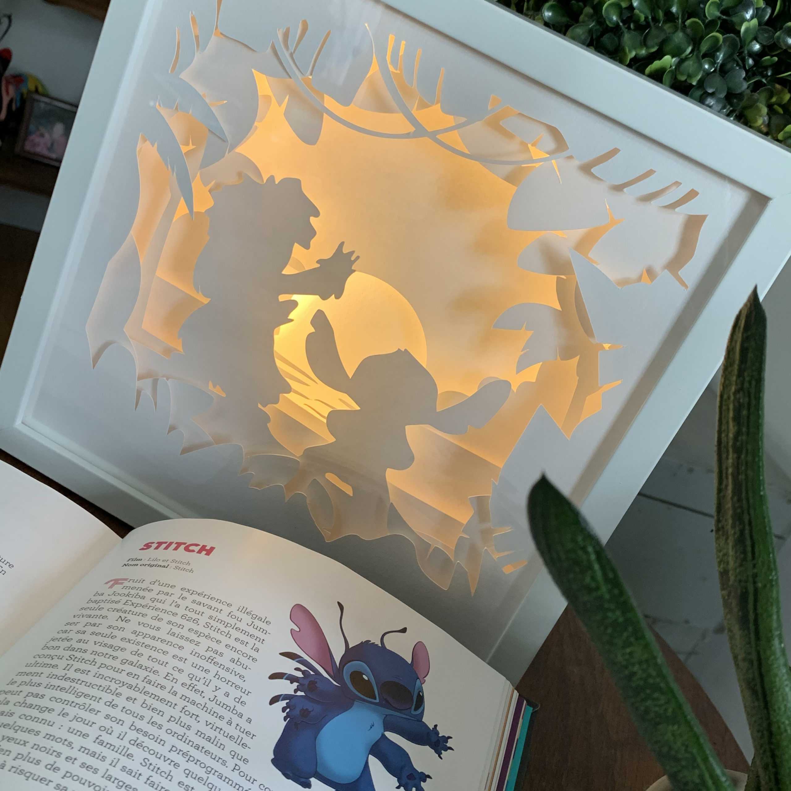 Cadre lumineux lilo et stitch