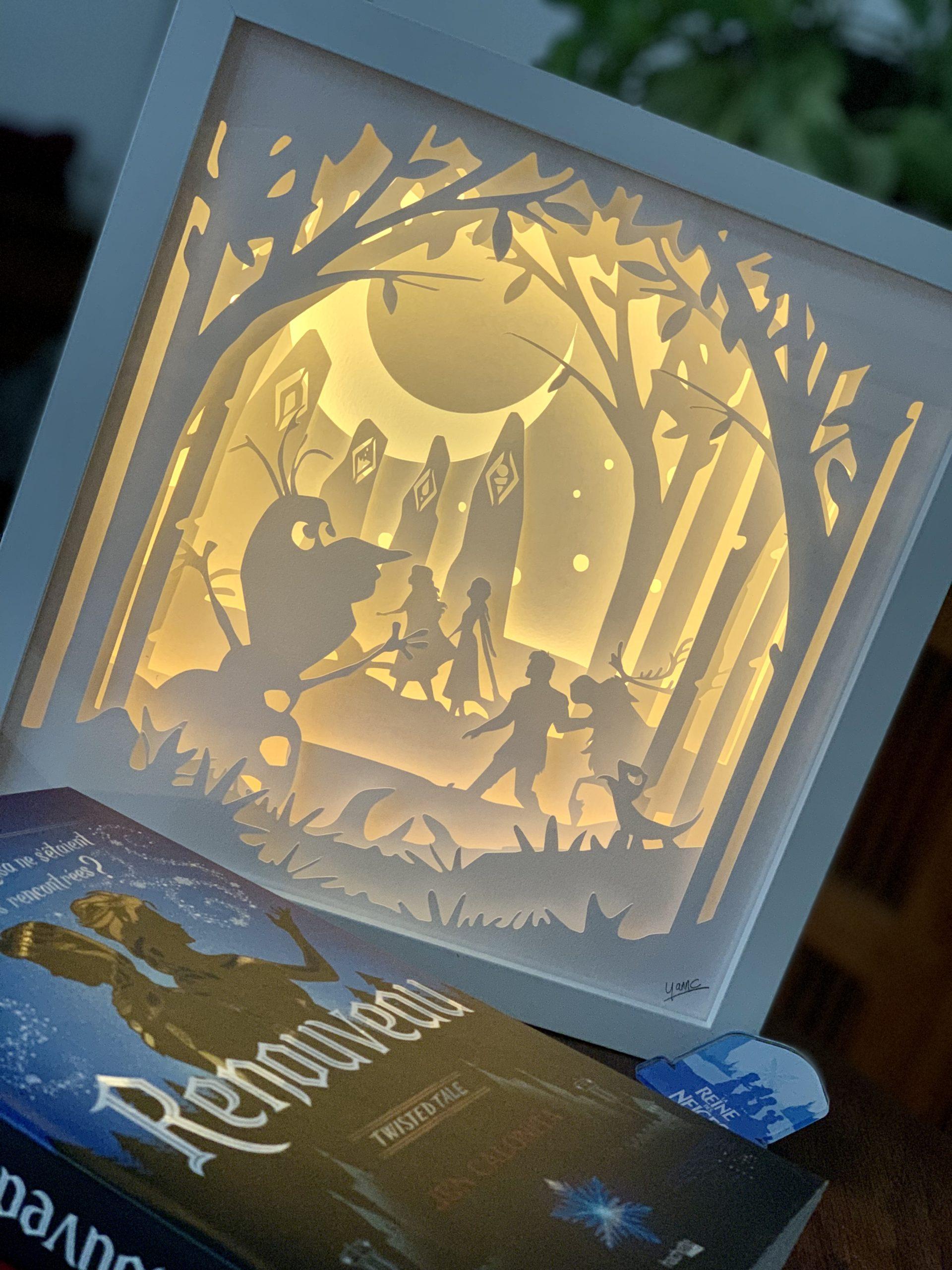 Cadre lumineux Frozen